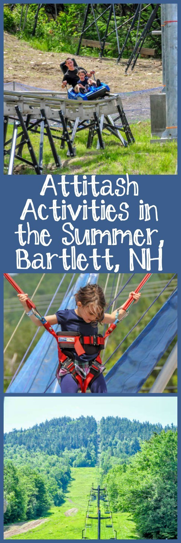 Attitash Activities in the Summer Including the Mountain Coaster and the Alpine Slide in Bartlett, NH