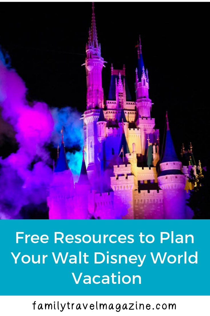 Free Resources For Planning a Trip to Disney World  including websites and apps to download and follow.