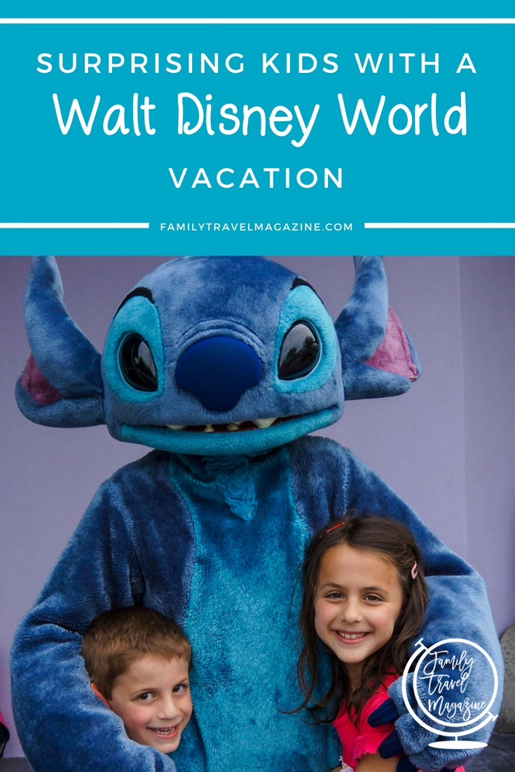 Thinking of surprising your kids with a Walt Disney World vacation? See how we did it, and then get our tops tips for a Disney surprise vacation reveal.