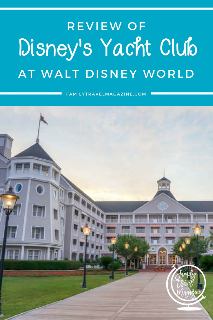 A Review of Disney's Yacht Club Resort, including the location, amenities, and rooms at the Yacht Club.