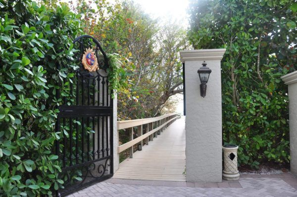 Entrance to the Beach at the Marco Beach Ocean Resort