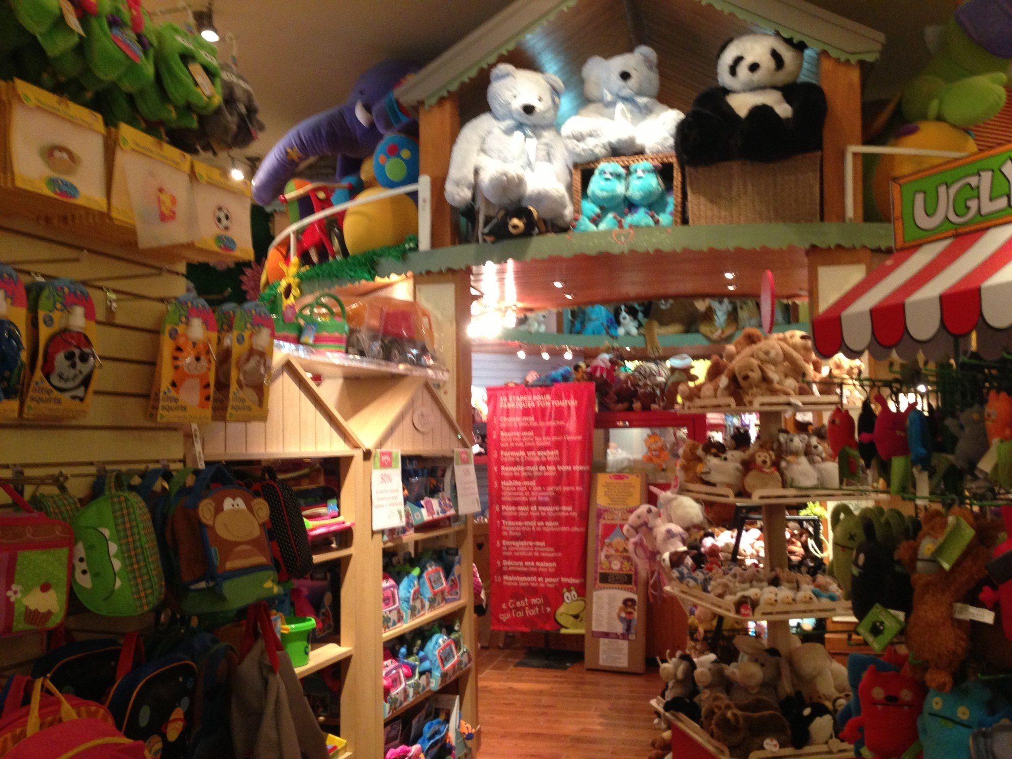 Benjo toy shop in Quebec