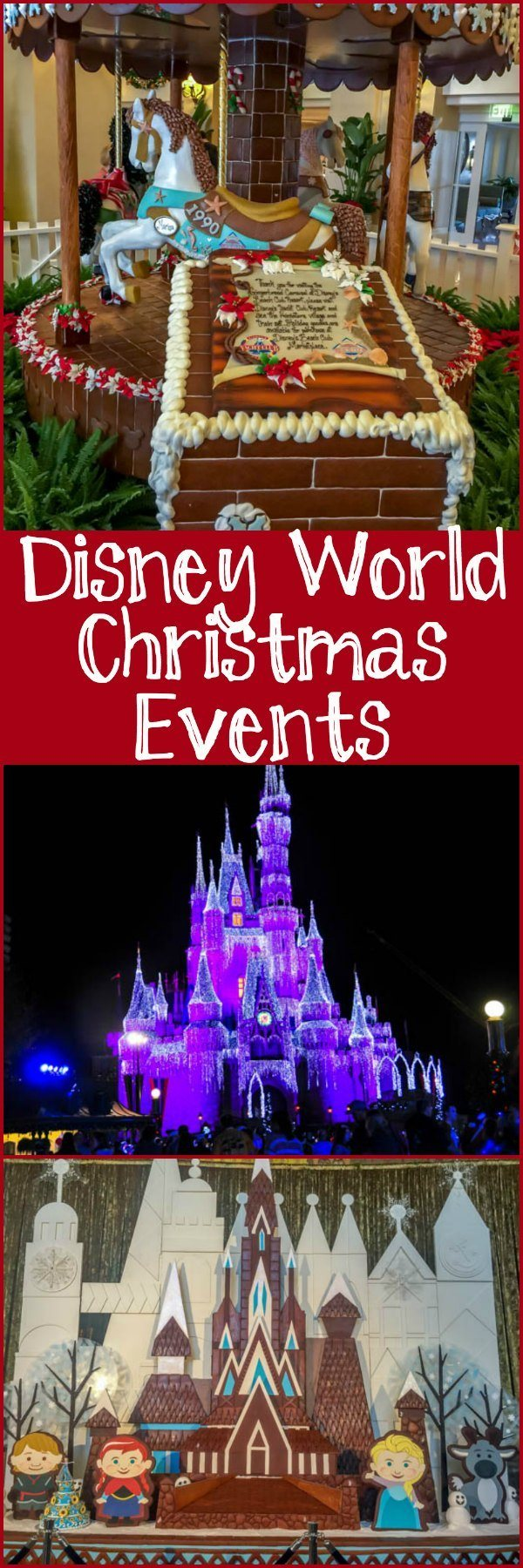 Walt Disney World Christmas Events, including Mickey's Very Merry Christmas Party, Christmas lights, resort decorations, and other holiday events.