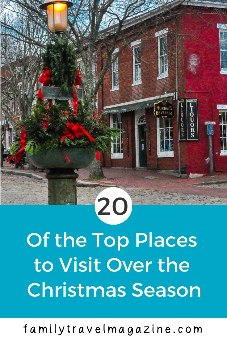There are lots of options for families looking to celebrate the holidays while on vacation. We found 20 of the top places to travel with kids during the Christmas season in the US and Canada (and one in Europe), and compiled them here.
