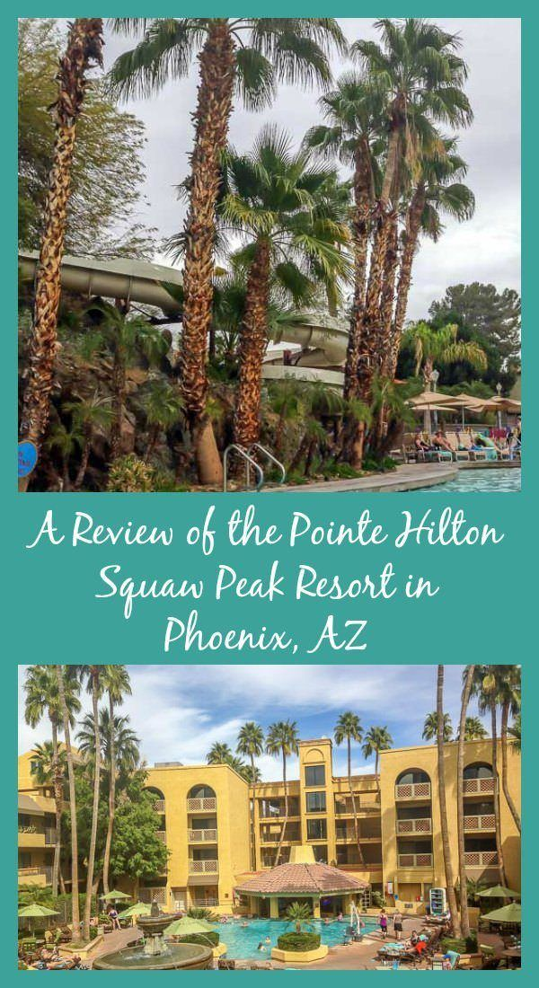 A review of the Pointe Hilton Squaw Peak Resort, a fun family resort in Phoenix, AZ that offers suites and an outdoor waterpark.