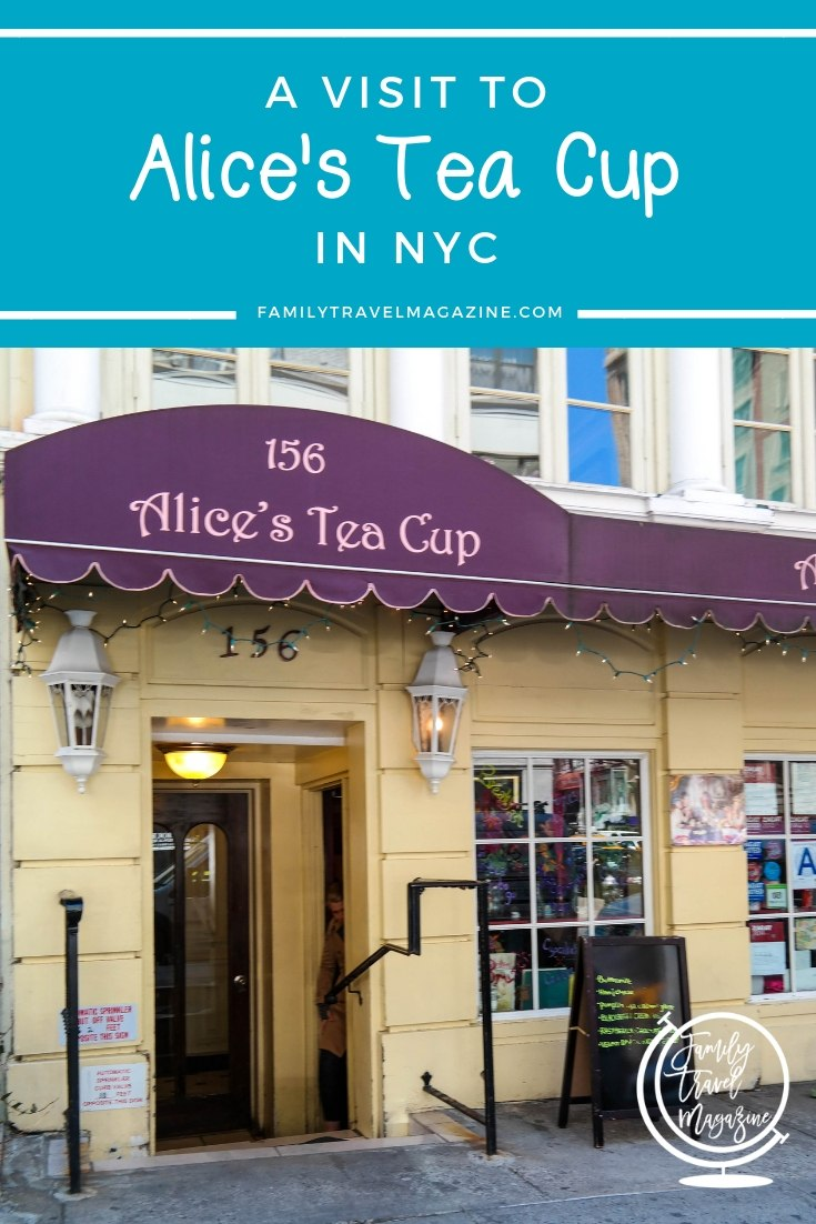 A visit to Alice's Tea Cup in NYC, which offers a children's menu, lite bites, a tea menu, cocktails, and more.