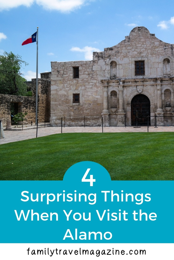 4 surprising things when you visit the Alamo, including information about visiting, the cost of the Alamo, and the location of the Alamo.