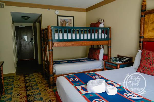 Bunk beds at the Disney Wilderness Lodge
