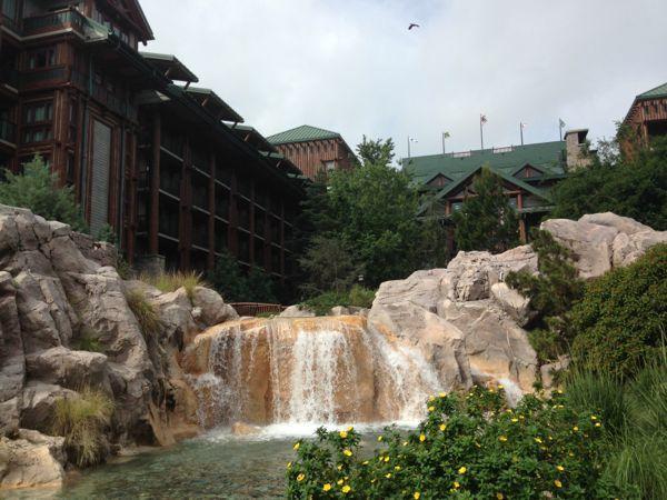 Waterfall at Disney's Wilderness Lodge