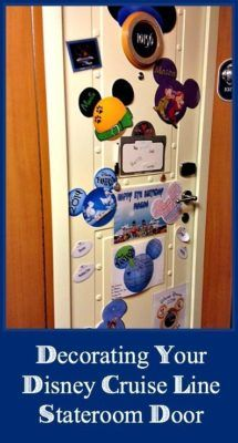 Make your Disney Cruise Line stateroom door look awesome with these fun, decoration ideas including magnets, clip art, Etsy links, and more!