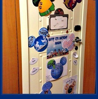 Decorating with Disney Cruise Door Magnets and Decorations