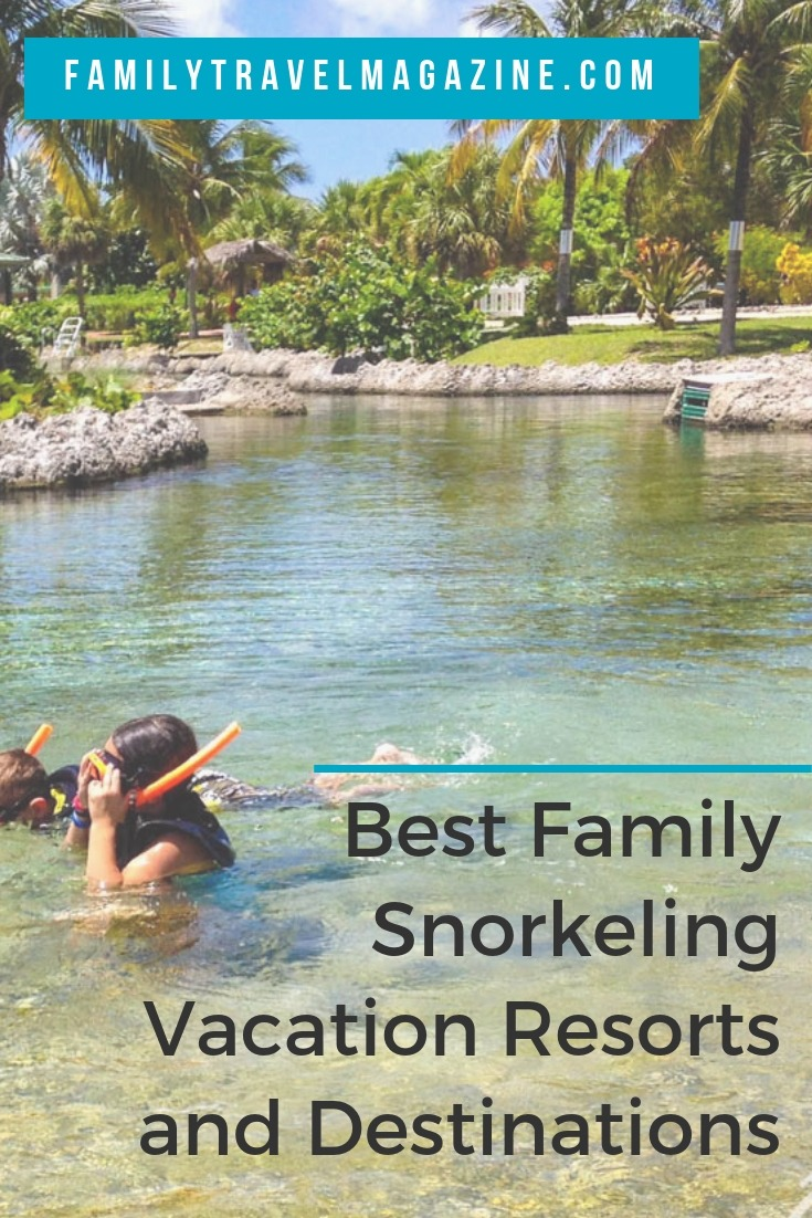 The best family snorkeling vacation resorts and destinations for your family vacation, including Caribbean vacation resorts.