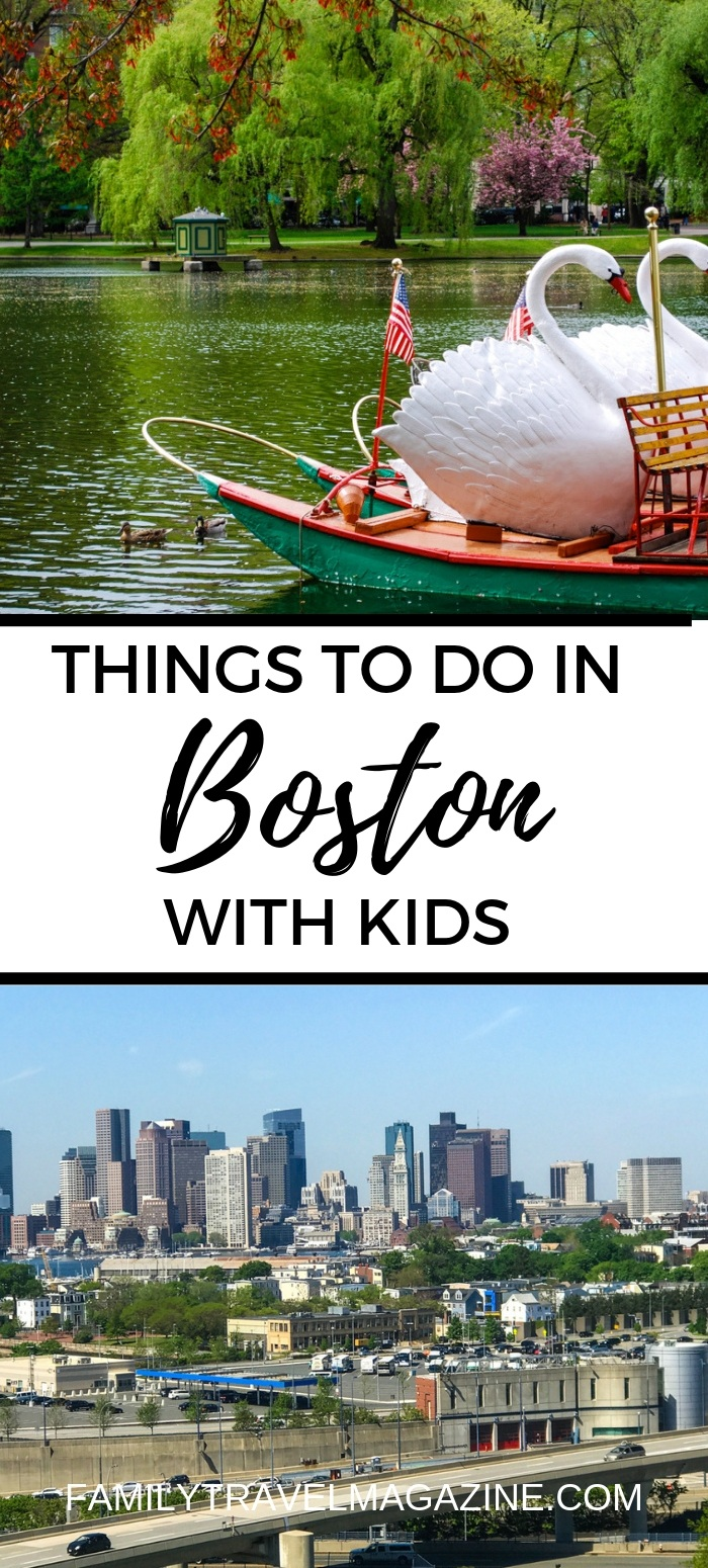 Things to do in Boston with kids including visiting Fenway Park, exploring the different museums, and learning about US history.