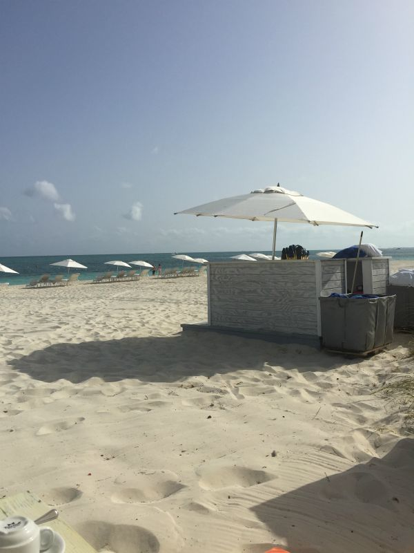 Towel Hut at the West Bay Club