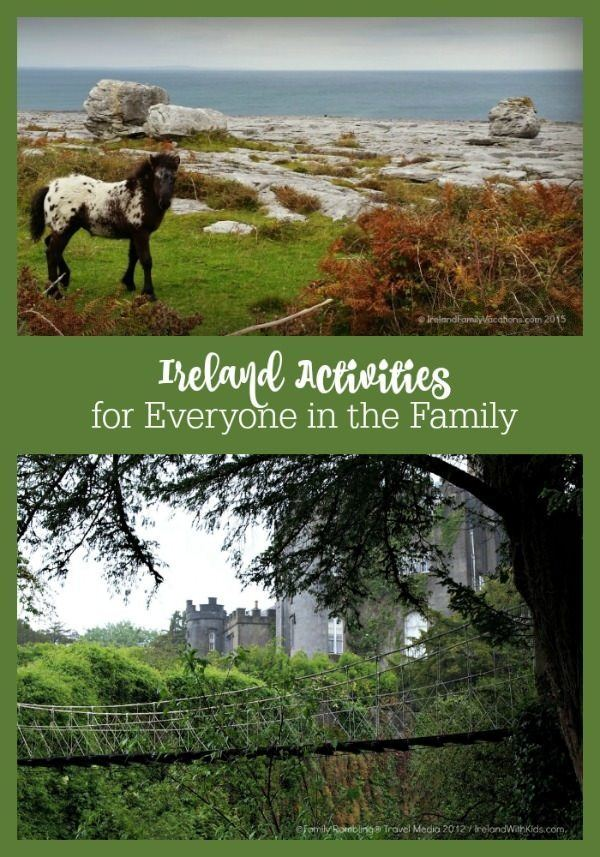 There are so many amazing things to do in Ireland for your next family vacation. Whether you want an active adventure, a lesson in history, or to explore nature there is something for everyone. By combining a few of these activities with Ireland's stunning scenery, haunting castles, and incredible culture, you can create an Ireland family vacation to remember!