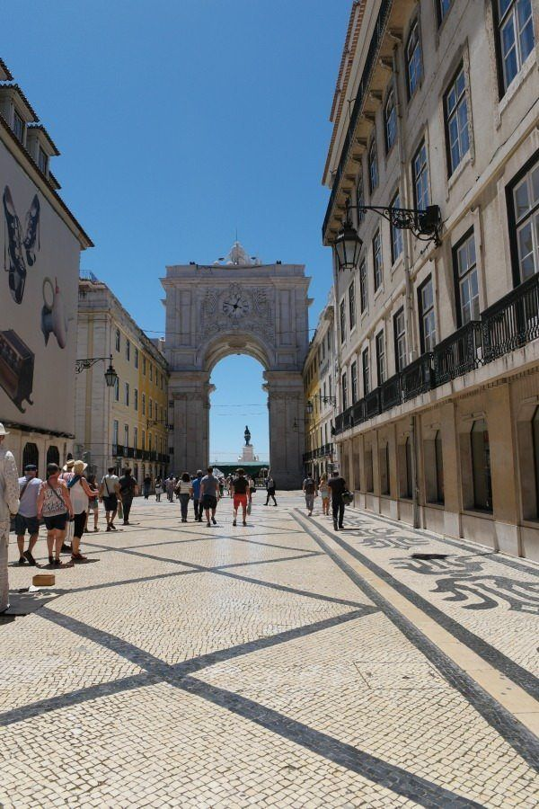 A sidewalk to Lisbon, Portugal