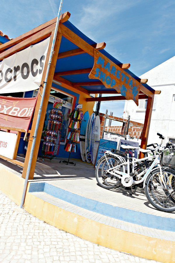 One of the many surf schools/shops in Sagres, Portugal.