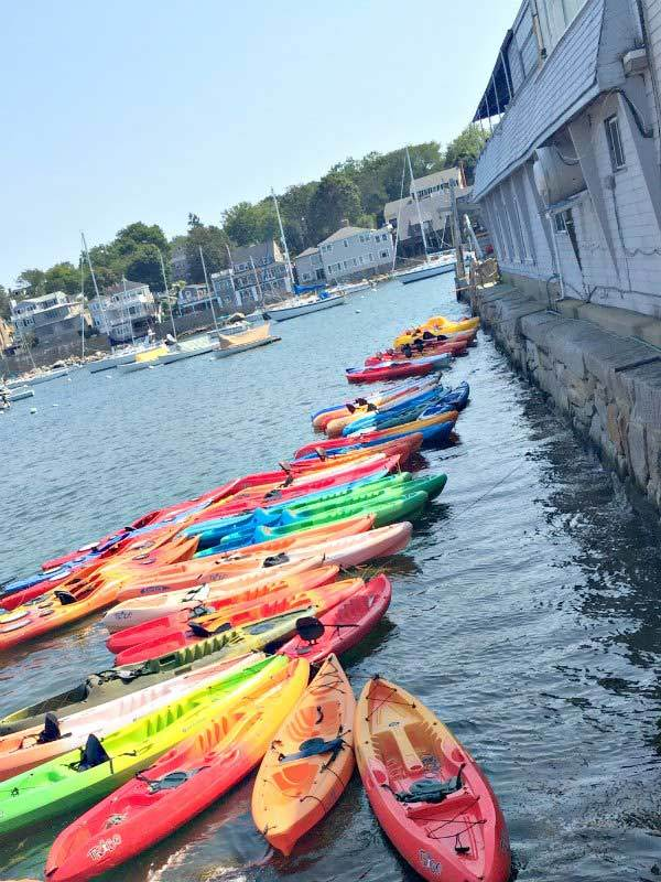 Kayaks in Rockport
