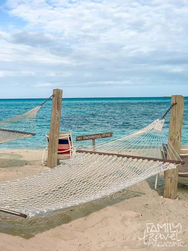 A hammock on Disney's Castaway Cay