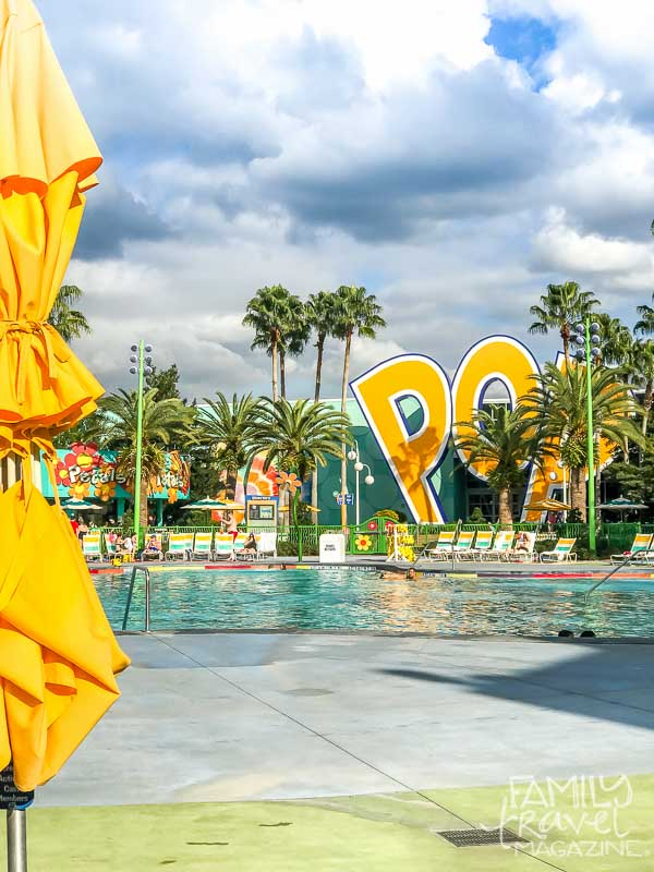 The main pool at Pop Century