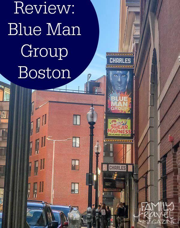 Review of the Blue Man Group Boston, a family-friendly show that is great for any families visiting Boston.