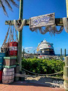 The Disney Wonder at Castaway Cay