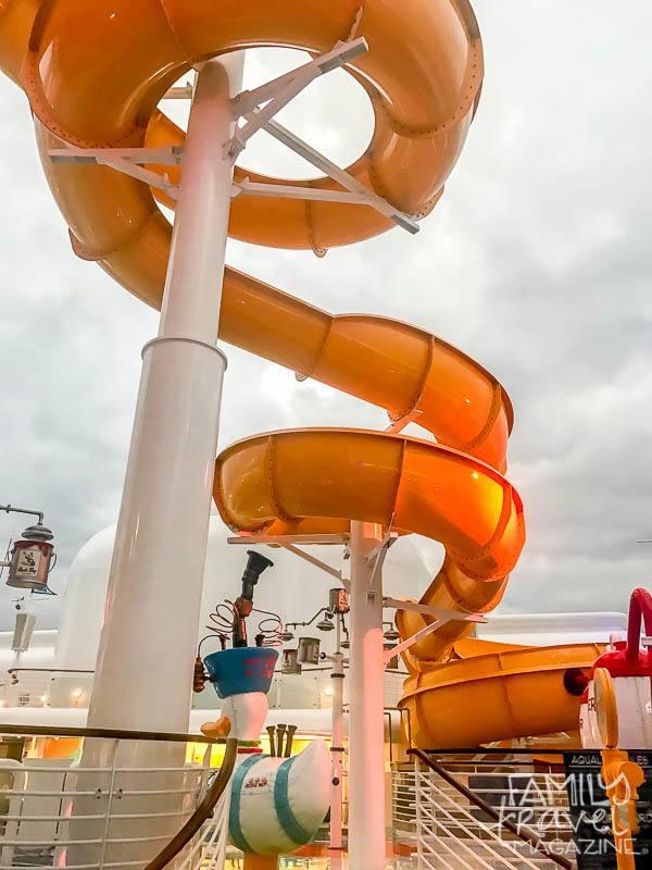 Water slide on the Disney Wonder