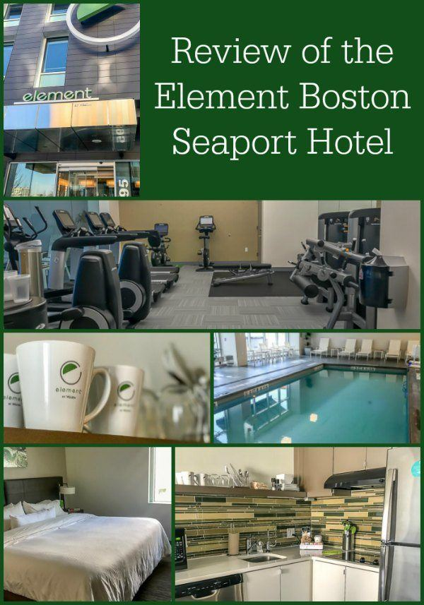 Review of the Element Boston Seaport Hotel, a green hotel located in the Seaport district of Boston.