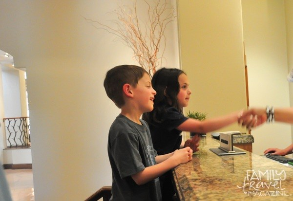 kids' check in at the Fairmont Scottsdale Princess