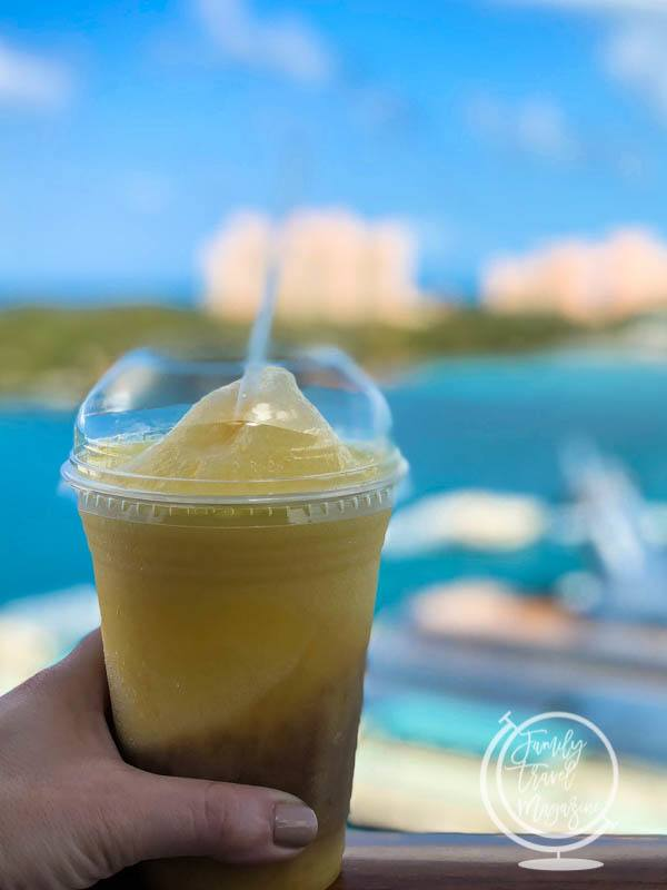 Dole Whip with rum on the Disney Cruise Line