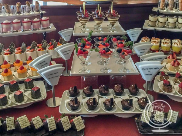 Desserts at Palo on the Disney Cruise Line