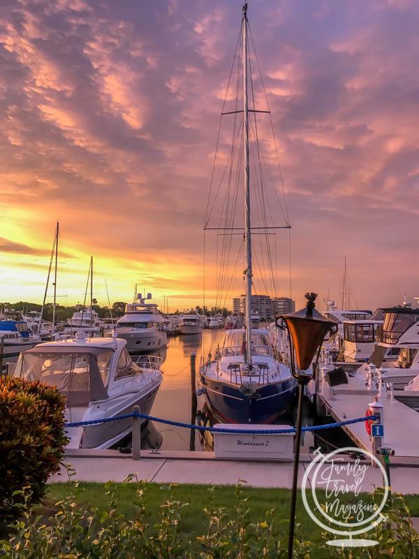 Sunset at the Resort at Longboat Key Club