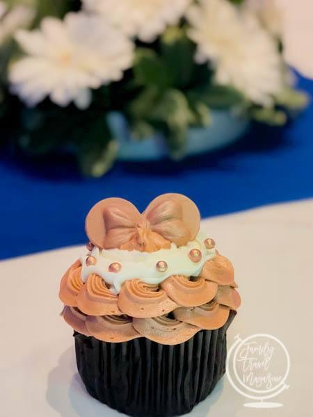 Walt Disney World rose gold cupcake