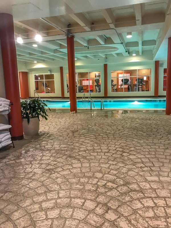 The pool at the Sheraton Raleigh Hotel