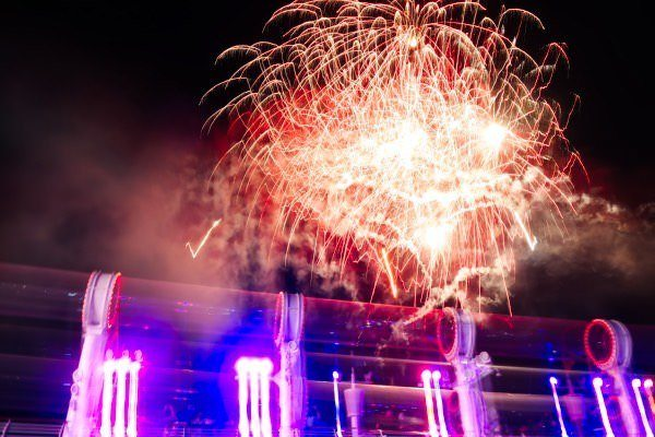 Fireworks on Disney Cruise Line