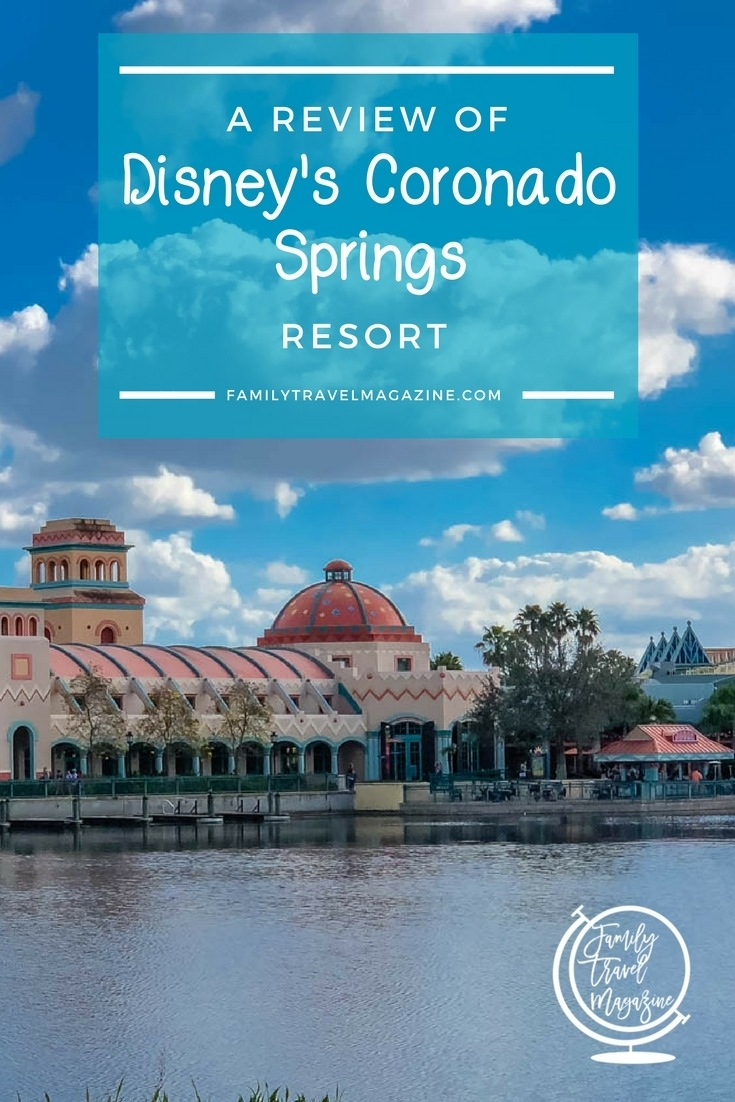 A Review of Disney's Coronado Springs Resort, including the location of the resort, the rooms, the restaurants, and the amenities.