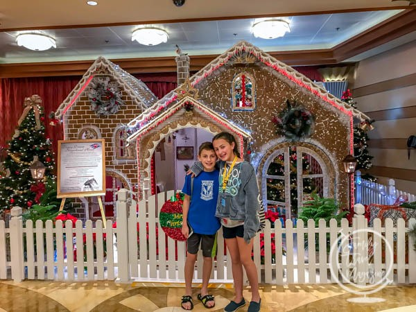 Disney Christmas Cruise gingerbread house