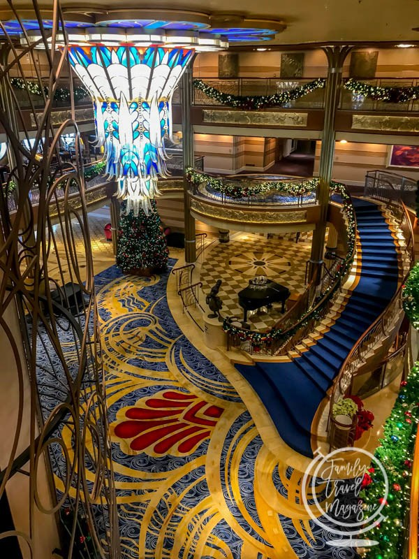 The lobby of the Disney Dream