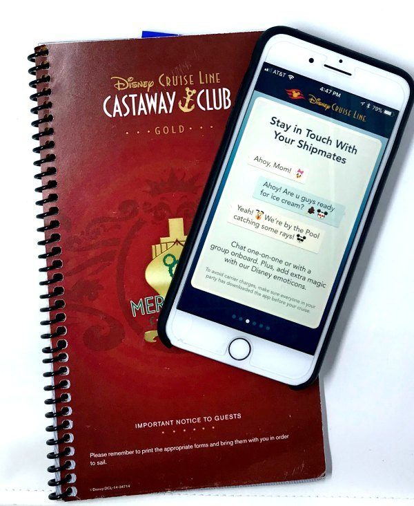 The Disney Cruise Line app