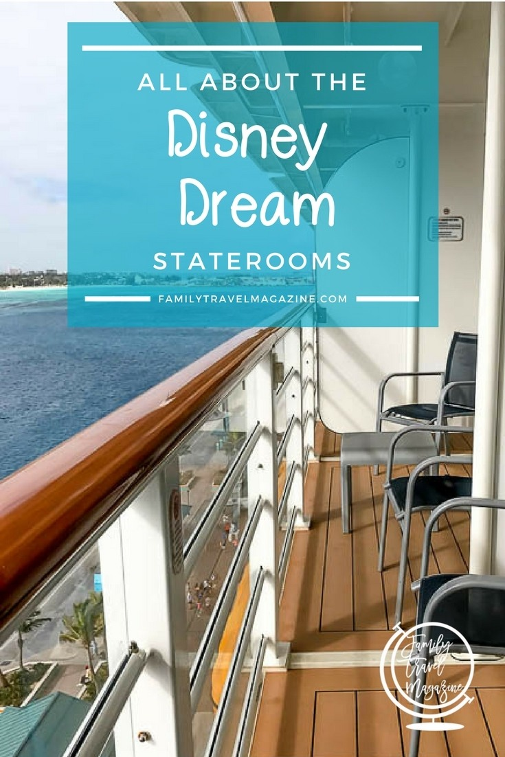 The Disney Dream Staterooms including categories, room types, room locations, and room amenities