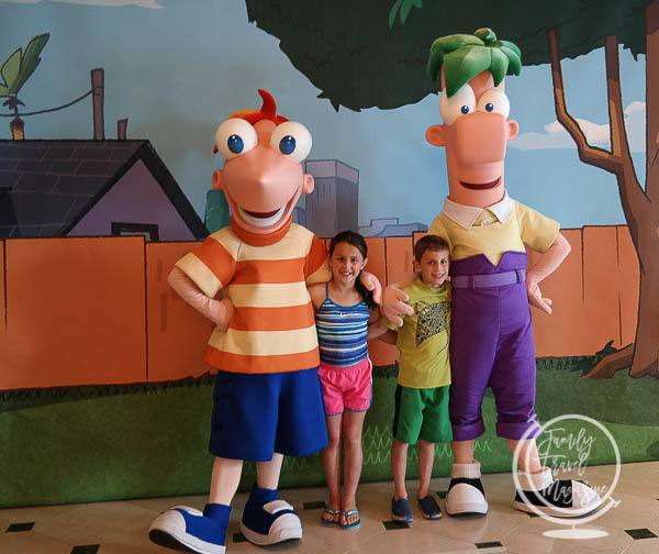 Phineas and Ferb on the Disney Cruise Line