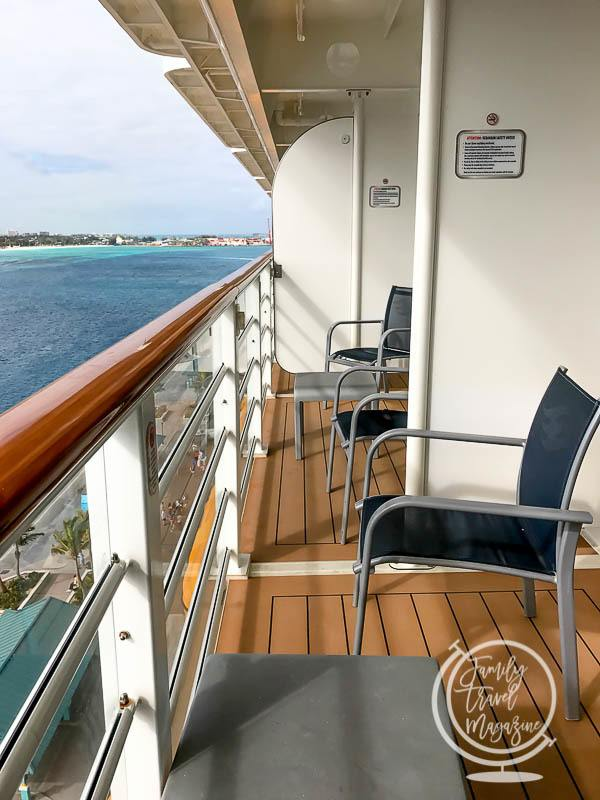 A verandah on the Disney Dream