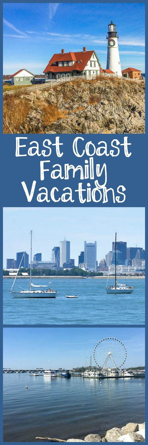 East Coast family vacations, including locations like Cape Cod, Washington DC, Boston, Raleigh, and more.