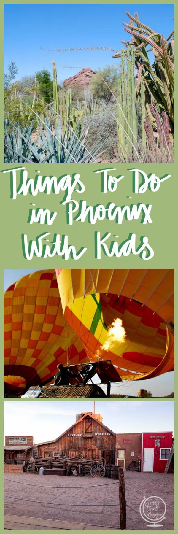 Things to do in Phoenix with kids including family activities in Tempe, Chandler, Scottsdale, and more.