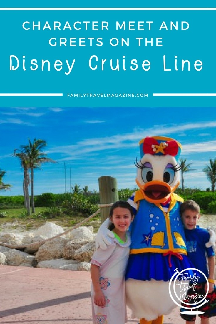 Character meet and greets on the Disney Cruise Line.