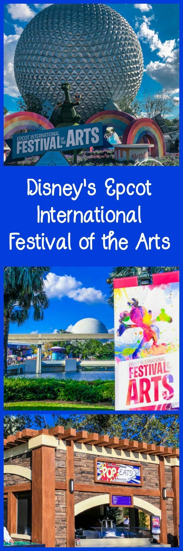 All About the Epcot International Festival of the Arts at Walt Disney World, including food, entertainment, seminars, and merchandise.