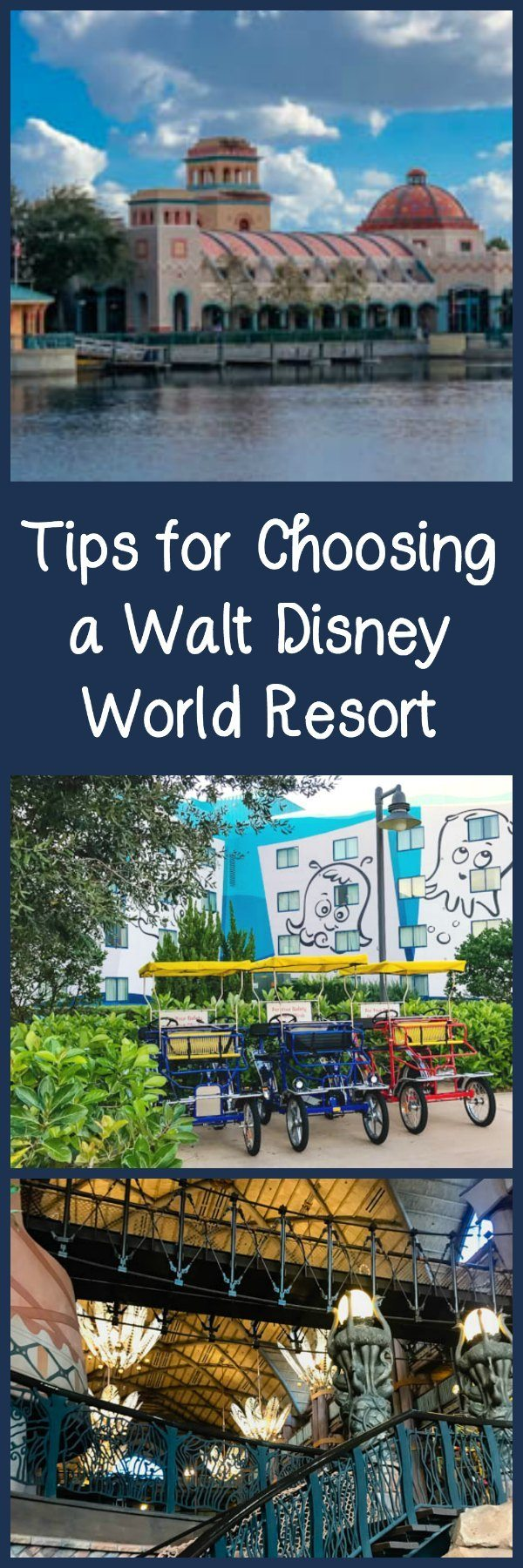 Tips for choosing a Walt Disney World Resort hotel, including factoring in your budget, travel plans, and more.