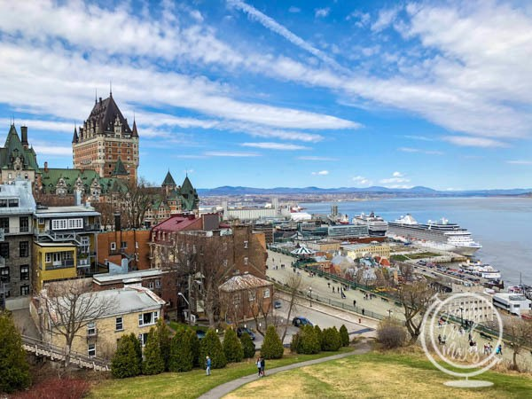The Chateau Frontenac from a distance