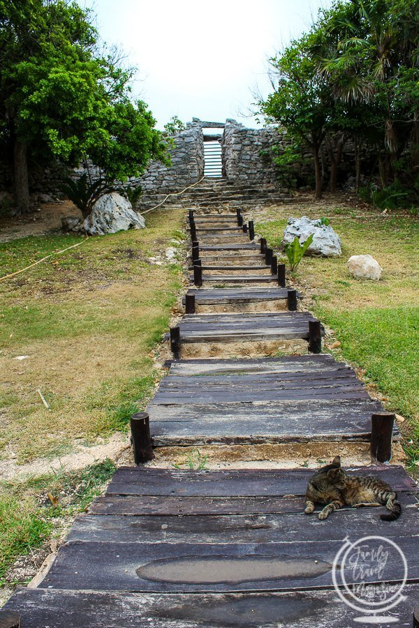 The entrance of the Tulum Ruins