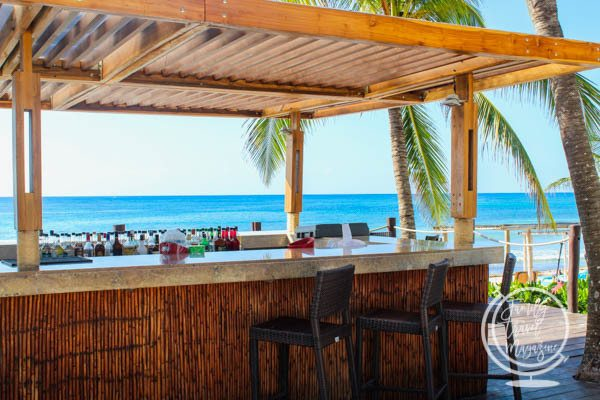 The beach bar in Akumal
